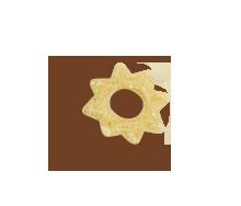 Pellets de harina de trigo